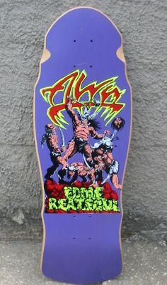 Alva - Eddie Reategui Alva Skateboards, Old School Skateboards, Vintage Skateboards, Skateboard Design, Skateboard Decks, All Ride, Skate And Destroy, Z Boys, Skate Art