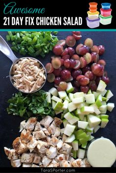 Awesome 21 Day Fix Chicken Salad Recipe http://tarasporter.com/2015/07/awesome-21-day-fix-chicken-salad-recipe/