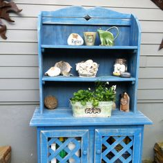 My garden hutch used for potting and storing my stuff!