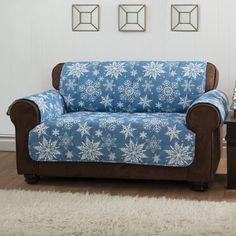 Innovative Textile Solutions Snowflake Sofa Protector