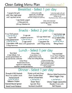 Simple Clean Eating Meal Plan - 12 Trending Clean Eating Diet Plans to Lose Weight Fast