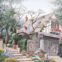 Steps To The Cottage by Barbara R. Felisky