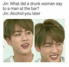 Lol Jin and his dad jokes - BTS Exo Bts, Kookie Bts, Bts Jin, Bts Bangtan Boy, Jimin, Jin Dad Jokes, Puns Jokes, Lame Jokes, Seokjin