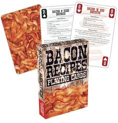 Bacon recipe playing cards!
