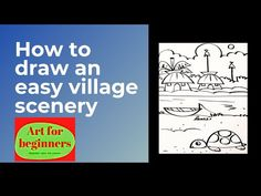 Drawing Videos For Kids, Beginner Art, Easy Drawings, Scenery, The Creator, Youtube, Landscape, Paisajes, Youtubers