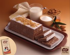 Turrón de chocolate, almendra y naranja confitada