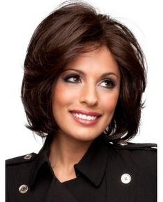 Stunning Soft Layered Wavy 100% Human Hair Wig