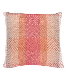 Loving this Coral Nicholas Throw Pillow on #zulily! #zulilyfinds