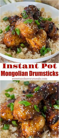 instant pot mongolian drumsticks are the perfect combination of sweet and savory the chicken drumsticks