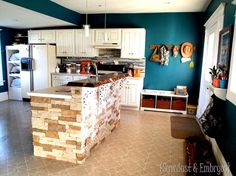 Adding a breakfast bar to your exsisting island! {Sawdust and Embryos}