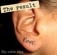MYWHITEIDEA: LOVE EARRINGS DIY + AWARDS ... link is not in english but the pictures explain