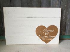 Wedding Guest Book Guest Book Alternative Rustic by Girlinair