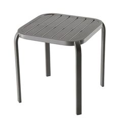 69192224ddd Add classic minimalist style to your outdoor space with the Barrington  Modern Square Stacking Accent Table. Crafted from durable and sturdy steel