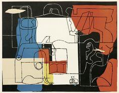 LE CORBUSIER (1887-1965) BOUTEILLES 1923/ ED. 60  WITH HANDSIGNATURE 75/75 68 X 87,5 CM LITERATURE: LE CORBUSIER – THE GRAPHIC WORK, P.67 VERY RARE