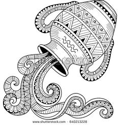 Coloring Book For Adults A Glass Vessel With Memories Of