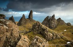 Isle of Skye a landscape view with The Old Man of Storr