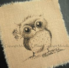 Michelle Palmer: Tiny, fluffy... feathers~ Oh my goodness I have to ink and oil rouge an owl like this.. Totally in love...