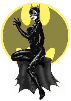 Catwoman Pinup Sketch by bredenius on deviantART
