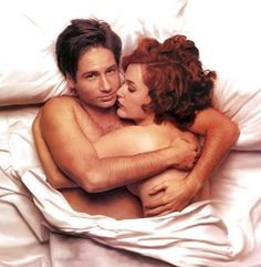 """Mulder said """"TrustNo1""""...but he did find one person to trust: Scully!"""