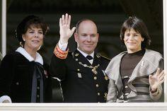 Princess Caroline - Prince Albert II - Princess Stephanie of Monaco - National Day Celebrations