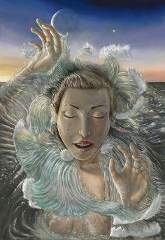 """Afrodita"" Pintura digital https://www.facebook.com/pages/Calendario-2014-El-Olimpo/382804861854634 https://www.facebook.com/pablogmilustracion"