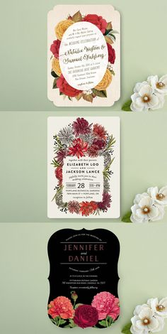 Fiesta / Hacienda inspired wedding invitations from minted.com