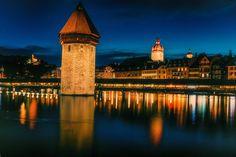 Night light cityscape Lucerna
