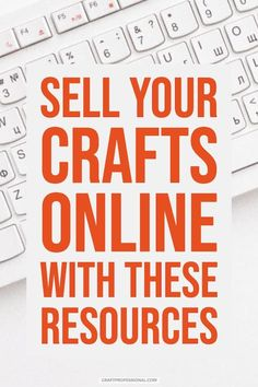 Sell your crafts online with these resources. Start selling your crafts online with these smart strategies and resources for creative entrepreneurs. Selling Crafts Online, Craft Online, Z Craft, Craft Sale, Craft Ideas, Money Making Crafts, Diy Crafts To Sell, Sell Diy, Where To Sell