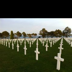 Omaha Beach, Normandy, France. Seeing this cemetery was the most humbling experience I've ever had. I will never forget it.