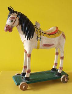 vintage paper mache horse