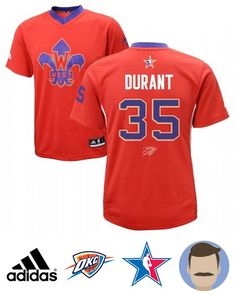 size 40 56278 8adbb Men s Kevin Durant  35 Red All-Star Swingman Jersey