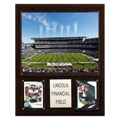 NFL 12 x 15 in. Lincoln Financial Field Stadium Plaque - 1215LINCOLN