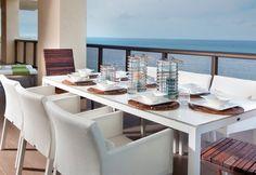 Balcony dining area