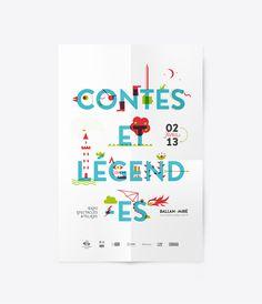 Design graphique de l'affiche, travail de typographie et d'illustration