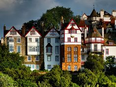 Houses on Ramsay Gardens, Edinburgh