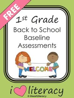 1st Grade Back to School Baseline Reading Assessments (FREE)  Tests Included: Letter Naming, Letter Sounds, Sight Words, CVC Words, and Non-Sense CVC Words #backtoschool #1stgrade
