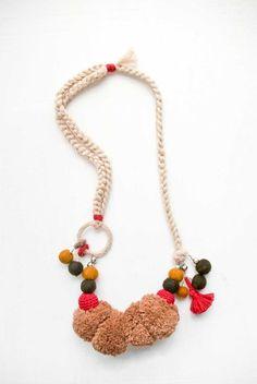 fournier pom pom necklace