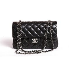 Chanel flap bag with lambskin and silver hardware Chanel Bag Classic, Chanel Black, Chanel Purse, Chanel Handbags, Chanel Maxi, Handbags 2014, Chanel Chanel, Replica Handbags, Handbags Online