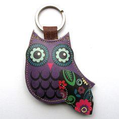 Owl keyring charm