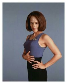 The women of Star Trek TV Series: Voyager. Actre: Roxann Dawson who played a half klingon named: B'Elanna Torres.