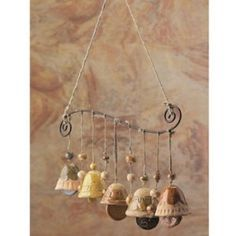 Ceramic Bells Mobile Wind Chime