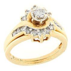 Yellow Gold Diamond Wedding Ring Set (scheduled via http://www.tailwindapp.com?utm_source=pinterest&utm_medium=twpin&utm_content=post51390106&utm_campaign=scheduler_attribution)
