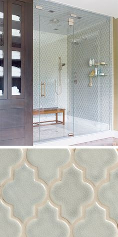 Vibe Ashbury in Blue Shadow from Walker Zanger makes a stunning shower.