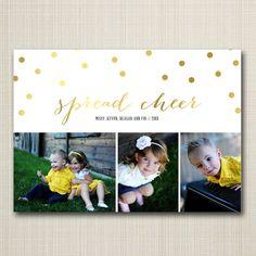 christmas photo card - spread cheer.
