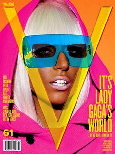 Lady Gaga pose on V Magazine 2009 cover