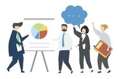 A representation of work training by a manager illustration free image by Digital Marketing Strategy, Digital Marketing Services, Seo Services, Business Illustration, Graphic Illustration, Training Manager, Work Train, Bar Graphs, Business Website