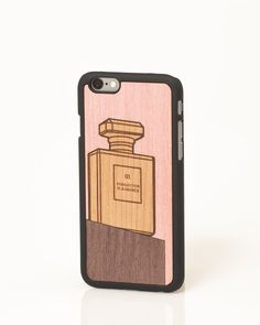 """Perfume """"Valuable Leisures"""" wooden iPhone cover by Wood'd"""