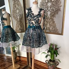 One more embroidery dress Embroidery Dress, High Low, Dresses, Fashion, Gowns, Moda, La Mode, Embroidered Dresses, Dress