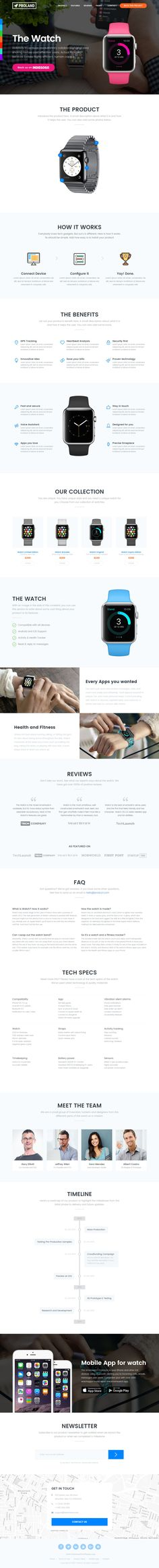 Launching a new product? Looking for a kick-ass landing page to market your product? Download Proland is a creative Product #LandingPage #Template built with HTML5 and #Bootstrap integrated with Paypal, Mailchimp and Email.
