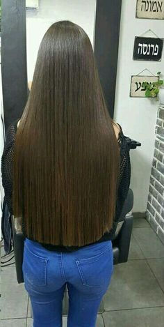 Long Blunt Hair, Long Brown Hair, Straight Hairstyles, Cool Hairstyles, One Length Hair, Long Braids, Super Long Hair, Silky Hair, Beautiful Long Hair